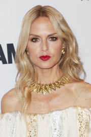 Rachel Zoe dolled up her bare neckline with a David Webb laurel leaf necklace.