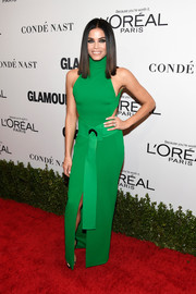 Jenna Dewan-Tatum looked cool in a sleeveless green turtleneck dress by Solace London at the Glamour Women of the Year 2016.