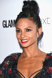 Alesha Dixon worked a messy top knot at the 2017 Glamour Women of the Year Awards.