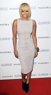 Keri Hilson was in the navy at the 'Glamour' Woman of the Year awards in velvet platform booties.