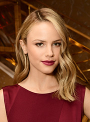 Halston Sage showed off perfect waves at the Glamour x Tory Burch Women to Watch lunch.