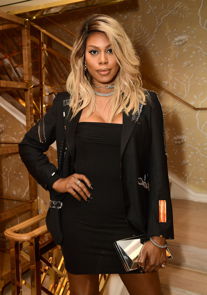 More Pics of Laverne Cox Medium Wavy Cut (1 of 4) - Laverne Cox Lookbook - StyleBistro