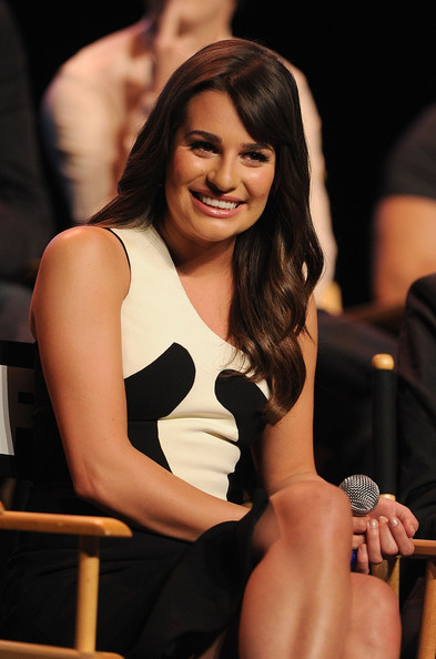 More Pics of Lea Michele Cocktail Ring  (2 of 41) - Decorative Rings Lookbook - StyleBistro [beauty,arm,thigh,leg,muscle,fashion,dress,brown hair,long hair,black hair,lea michele,q a,hollywood,california,glee academy screening]