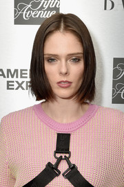 Coco Rocha opted for a simple center-parted bob when she attended the launch of the Saks IT List Townhouse.