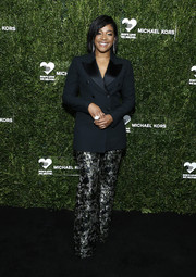 Tiffany Haddish went the masculine-chic route in a black tux jacket at the God's Love We Deliver Golden Heart Awards.