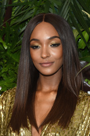 Jourdan Dunn swiped on some metallic gold eyeshadow to match her outfit.