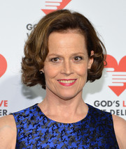 Sigourney Weaver wore a cute curly 'do at the Golden Heart Awards.