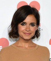 Miroslava Duma looked youthful with this short wavy cut during the Golden Heart Awards.