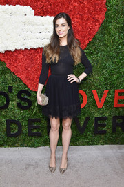 Ariana Rockefeller kept it sweet in a fit-and-flare LBD during the Golden Heart Awards.