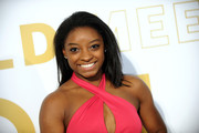 Simone Biles sported a simple straight cut at the Gold Meets Golden event.