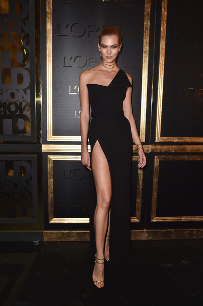 Karlie Kloss at the L'Oreal Gold Obsession Party