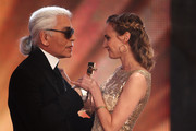 Karl Lagerfeld and Diane Kruger Photo