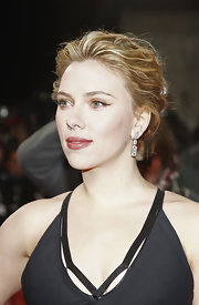 Scarlett Johansson wore her textured wavy tresses in a loose bobby-pinned updo at the 47th Golden Camera Awards in Berlin, Germany.