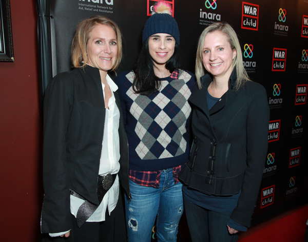 More Pics of Sarah Silverman Pompom Beanie (1 of 5) - Sarah Silverman Lookbook - StyleBistro [good for a laugh comedy fundraiser to support children affected by war,good for a laugh,event,premiere,children,samantha nutt,sarah silverman,arwa damon,l-r,los angeles,comedy fundraiser,war]