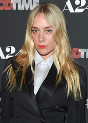 Chloe Sevigny stuck to her signature hippie hairstyle when she attended the New York premiere of 'Good Time.'
