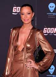 Sky Nellor attended the premiere of 'Goon' wearing a rich opaque oxblood nail polish.