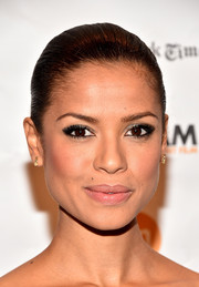 For her beauty look, Gugu Mbatha-Raw went edgy-glam with a smoky eye.