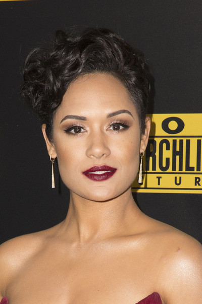 Grace Gealey Short Curls [hair,face,hairstyle,eyebrow,lip,chin,beauty,skin,forehead,black hair,grace gealey,golden globe awards,beverly hills,california,fox and fx,party,golden globe awards party]