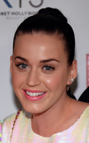 Katy Perry wore a pyramid stud along with a gold safety-pin earring at the grand opening of the 'Britney: Piece of Me' show.
