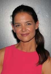 Katie Holmes opted for a girl-next-door ponytail when she attended the premiere of 'Gravity.'