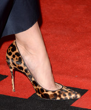 Jennifer Morrison attended the 'Gravity' premiere wearing a sexy pair of animal-print pumps by Christian Louboutin.