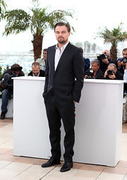 Leonardo DiCaprio chose a dapper two-button suit with notch-lapels for his classic menswear look at Cannes Film Festival.