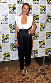 Blake paired her cutout Resort 2011 top with high-waisted, silk pants, from the same collection.