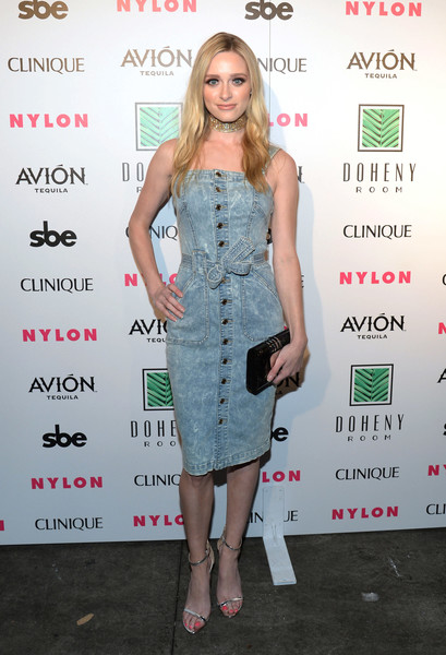 Greer Grammer Denim Dress