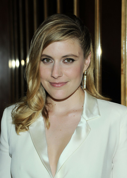 Greta Gerwig Dangling Diamond Earrings