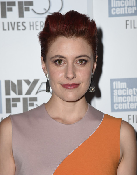 Greta Gerwig Fauxhawk [hair,face,hairstyle,eyebrow,lip,skin,chin,beauty,forehead,shoulder,arrivals,greta gerwig,maggies plan,lincoln center,new york city,alice tully hall,new york film festival]