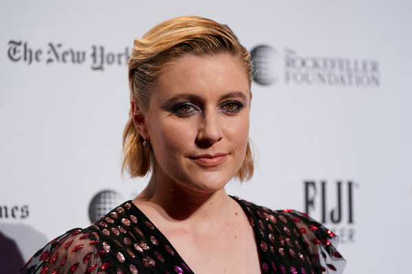Greta Gerwig Short Side Part [red carpet,hair,face,hairstyle,blond,eyebrow,beauty,lip,chin,cheek,fashion,greta gerwig,new york city,cipriani wall street,ifp,29th annual gotham independent film awards]
