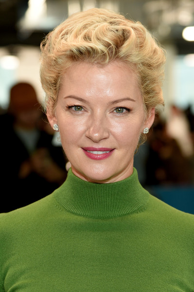 Gretchen Mol Short Curls [michael kors collection spring 2019 runway show,hair,face,hairstyle,blond,eyebrow,lip,beauty,chin,forehead,fashion,gretchen mol,front row,new york city,pier 17]