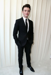 Chris Colfer looked classic and sophisticated in a two button, peak lapel tuxedo.