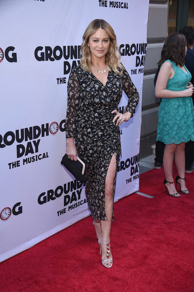 More Pics of Christine Taylor Frame Clutch (1 of 4) - Frame Clutch Lookbook - StyleBistro [groundhog day,red carpet,clothing,carpet,dress,premiere,shoulder,fashion,flooring,joint,leg,christine taylor,curtain call,new york city,august wilson theatre,opening night - arrivals,opening night]