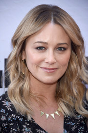Christine Taylor looked sweet with her face-framing waves at the Broadway opening of 'Groundhog Day.'