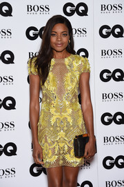 Naomie Harris attended the GQ Men of the Year Awards carrying an elegant Tyler Alexandra Jamie clutch.
