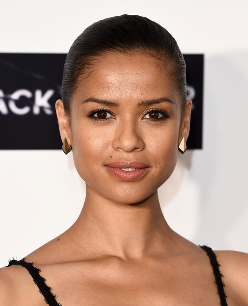 Gugu Mbatha-Raw Classic Bun [hair,face,eyebrow,hairstyle,skin,lip,forehead,chin,beauty,cheek,gugu mbatha-raw,screening,chelsea cinema,london,england,lff connects television: black mirror,bfi london film festival]