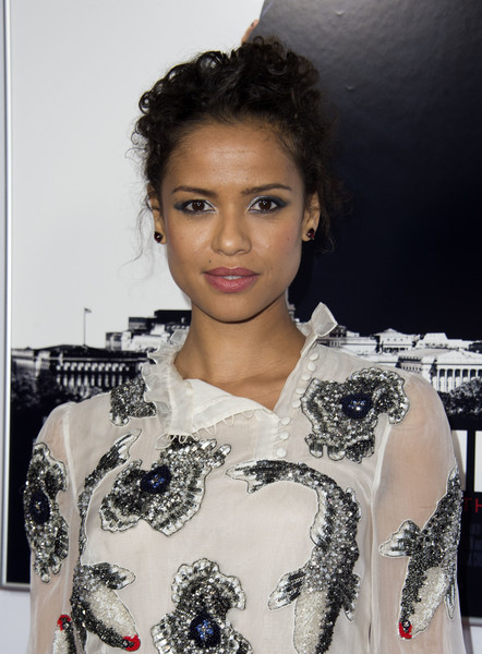 Gugu Mbatha-Raw Pinned Up Ringlets [hair,hairstyle,beauty,black hair,shoulder,lip,fashion,fashion model,fashion design,long hair,red carpet,gugu mbatha-raw,audi - premiere,miss sloane,usa,california,europacorp,afp,afi fest 2016,premiere]