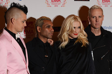 Gwen Stefani Adrian Young MTV EMA's 2012 - Red Carpet Arrivals