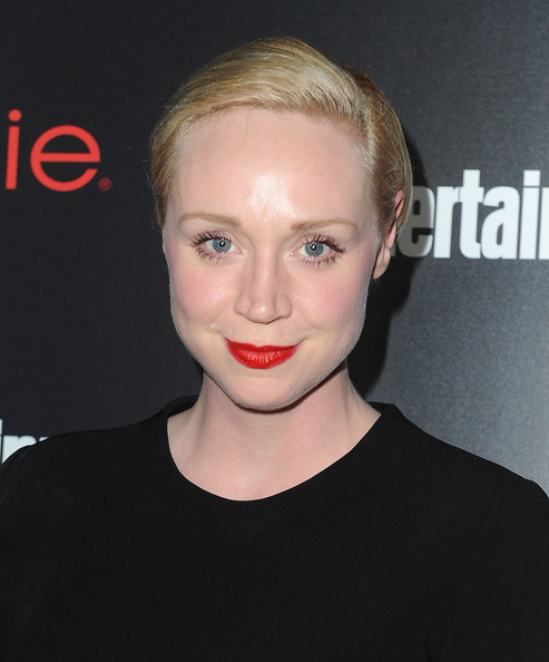 Gwendoline Christie Short Side Part [hair,face,lip,eyebrow,facial expression,hairstyle,blond,chin,beauty,forehead,gwendoline christie,nominees,essie - arrivals,nominees,sag awards,chateau marmont,tnt tbs,entertainment weekly,entertainment weekly celebration honoring this year,celebration]