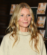 Gwyneth Paltrow wore her hair in boho waves during her book signing.