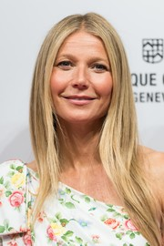 Gwyneth Paltrow sported her signature straight center-parted cut when she attended the Gwyneth Paltrow x Frederique Constant Ladies Automatic collection launch.