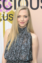 Amanda Seyfried showed off sleek straight layers at the 2018 H&M Conscious Exclusive collection celebration.