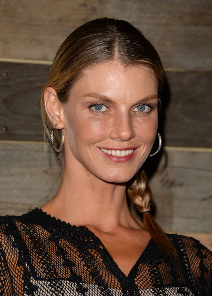 More Pics of Angela Lindvall Long Braided Hairstyle (1 of 14) - Angela Lindvall Lookbook - StyleBistro