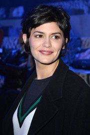 Audrey Tautou looked adorable with her tousled pixie at the H&M fashion show.