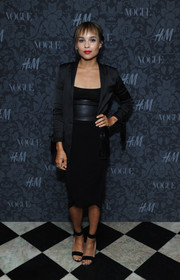 Zoe Kravitz's black sandals were a sexy finish to her ensemble at the H&M and Vogue Studios Between the Shows party.