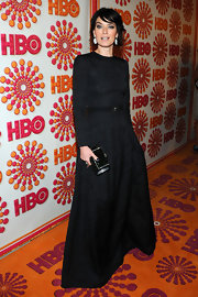 Lena Headey embodied simple elegance in this long-sleeve black evening dress at HBO's Emmy Awards reception.