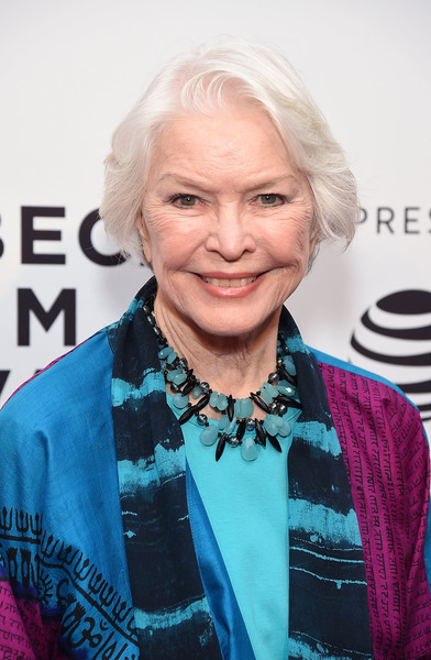 Ellen Burstyn wore her silver hair in a bob at the screening of 'I Am Evidence.'