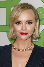 Christina Ricci looked cute wearing this bob with flipped ends at the HBO Golden Globes after-party.