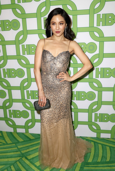 More Pics of Constance Wu Long Wavy Cut (5 of 7) - Constance Wu Lookbook - StyleBistro [dress,clothing,shoulder,gown,fashion model,lady,long hair,hairstyle,fashion,cocktail dress,constance wu,official golden globe awards,california,los angeles,circa 55 restaurant,hbo,arrivals]